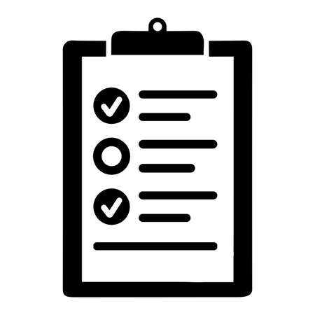 Check list icon. Use for commercial, print media, web or any type of design projects.
