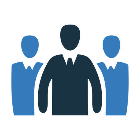Business leader icon, vector graphics for various use. Thank you. Ilustrace