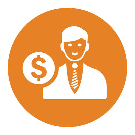 Businessman, investor icon, vector graphics for various use. Thank you. Ilustrace