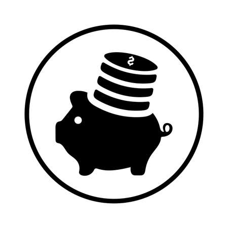 Investment, piggy bank icon. Perfect use for print media, web, stock images, commercial use or any kind of design project.