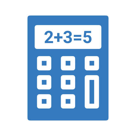 Calculation, calculator icon. Beautiful, meticulously designed icon. Well organized and editable Vector for any uses.