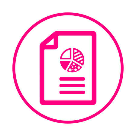 Pie chart report icon. Use for commercial, print media, web or any type of design projects.