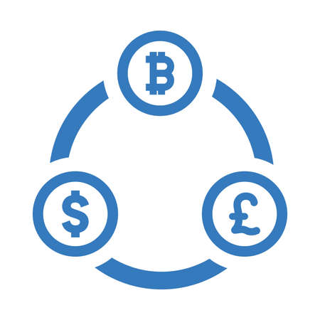 Bitcoin exchange icon. Beautiful, meticulously designed icon. Well organized and editable Vector for any uses.