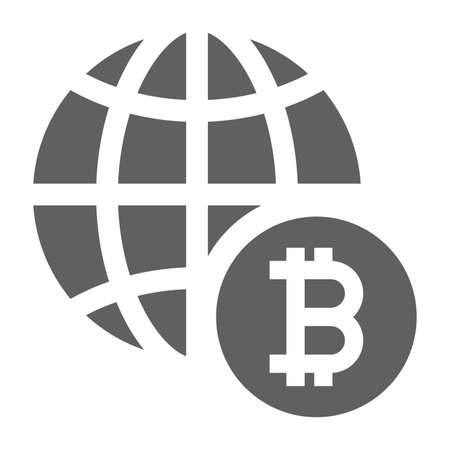 Bitcoin, global investment icon. Beautiful, meticulously designed icon. Well organized and editable Vector for any uses. Ilustração
