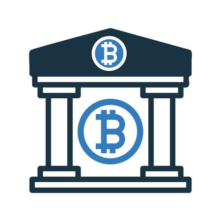 Bitcoin Property Icon. Beautiful, meticulously designed icon. Well organized and editable Vector for any uses. Ilustração