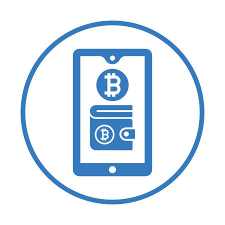 Bitcoin, mobile, wallet icon. Beautiful, meticulously designed icon. Well organized and editable Vector for any uses.