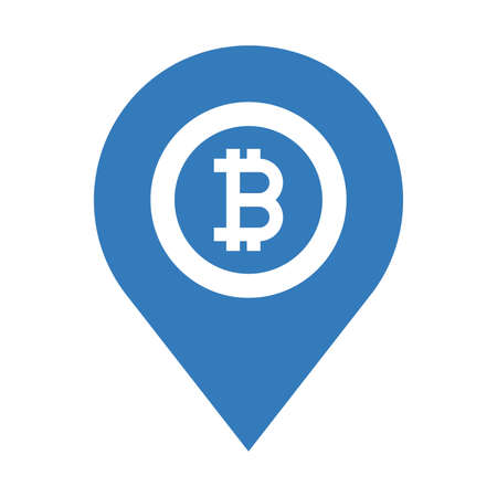 Bitcoin, location map icon. Beautiful, meticulously designed icon. Well organized and editable Vector for any uses.