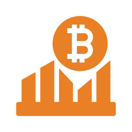 Bitcoin, growth icon. Beautiful, meticulously designed icon. Well organized and editable Vector for any uses.