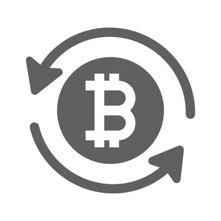 Bitcoin, refund, reload icon. Beautiful, meticulously designed icon. Well organized and editable Vector for any uses. Ilustração