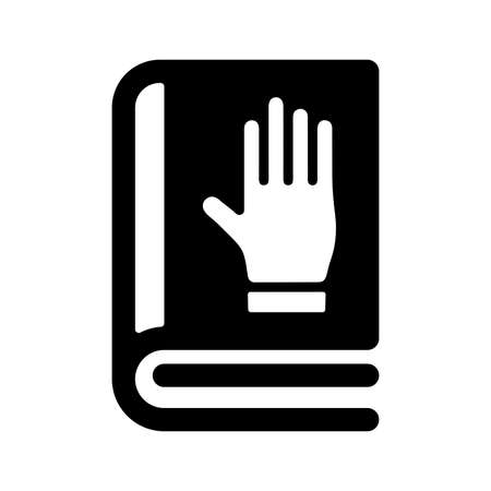 Book, honesty, oath icon. Use for commercial, print media, web or any type of design projects.
