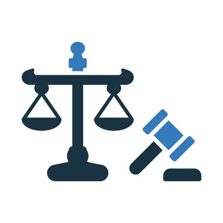 Justice, law icon. Creative element design for designing and developing websites, commercial, print media, web or any type of design projects.
