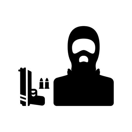 Terrorism, terrorist icon. Creative element design for designing and developing websites, commercial, print media, web or any type of design projects. Ilustrace
