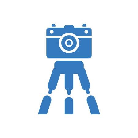 Camera tripod icon - Well organized and editable Vector design using in commercial purposes, print media, web or any type of design projects.