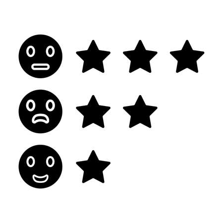 Reviews, rating, feedback icon is isolated on white background. Simple vector illustration for graphic and web design or commercial purposes.