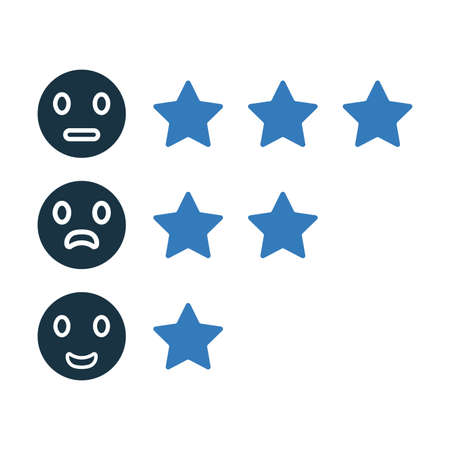 Reviews, rating, feedback icon is isolated on white background. Simple vector illustration for graphic and web design or commercial purposes. Vektoros illusztráció