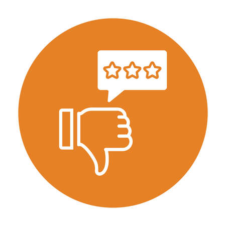 Dislike, negative review icon - Perfect for use in designing and developing websites, printed files and presentations, Promotional Materials, Illustrations or any type of design project.
