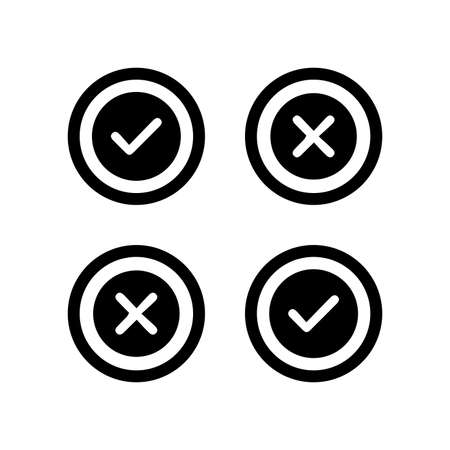 Accept or reject sign icon - Perfect for use in designing and developing websites, printed files and presentations, Promotional Materials, Illustrations or any type of design project.