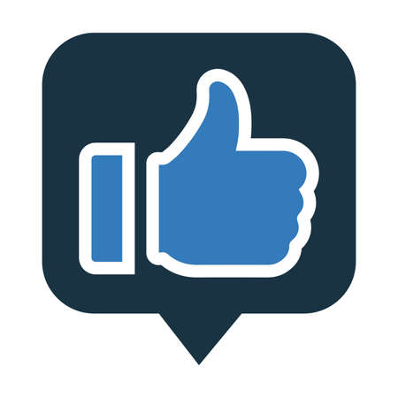 Favorite, thumbs up icon is use in designing and developing websites, commercial, print media, web or any type of design projects. Illusztráció