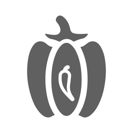 Capsicum, pepper icon - Well organized and editable Vector design using in commercial purposes, print media, web or any type of design projects.