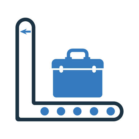 Baggage, transport conveyor icon. Well organized and editable Vector design using in commercial purposes, print media, web or any type of design projects.
