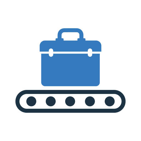 Baggage, luggage, transport conveyor icon. Well organized and editable Vector design using in commercial purposes, print media, web or any type of design projects.