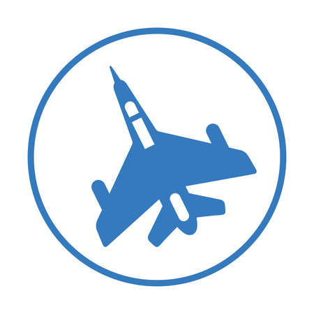 Air force, jet plane, navy, military aircraft icon- Simple vector illustration for graphic and web design or commercial purposes.
