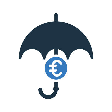 Insurance, umbrella , euro security icon. Perfect for use in designing and developing websites, printed files and presentations, Promotional Materials, Illustrations or any type of design project.