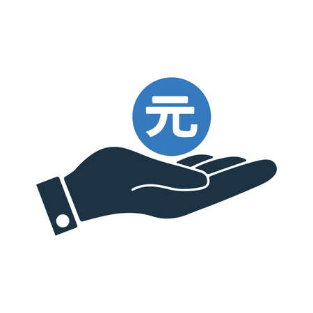 Yuan, payment, currency, japan, chinese icon - Perfect use for print media, web, stock images, commercial use or any kind of design project. 向量圖像