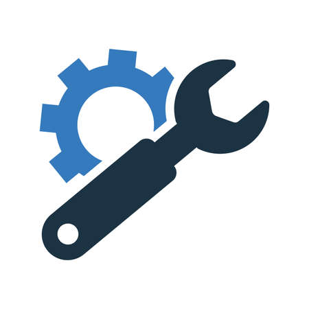 Setting, repair tools, configuration, gear icon. - Perfect for use in designing and developing websites, printed files and presentations, Promotional Materials, Illustrations or any type of design project. Векторная Иллюстрация