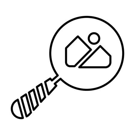Find images, Search photos icon - Perfect use for print media, web, stock images, commercial use or any kind of design project. Vector illustration.