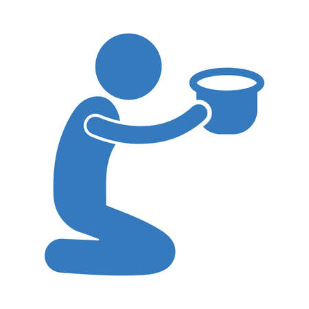 Beggar icon - Use for commercial purposes, print media, web or any type of design projects. Vector EPS file.