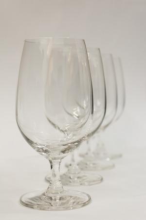 muscadet: wine glasses Stock Photo