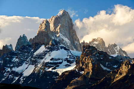 Fitz Roy at sunset, Patagonia, Argentine Stock Photo