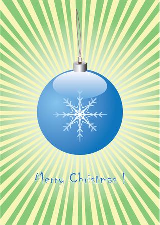 christmas blue ball Stock Vector - 8206355
