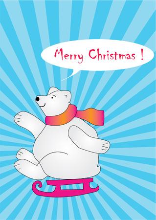 happy polar bear Stock Vector - 8206369
