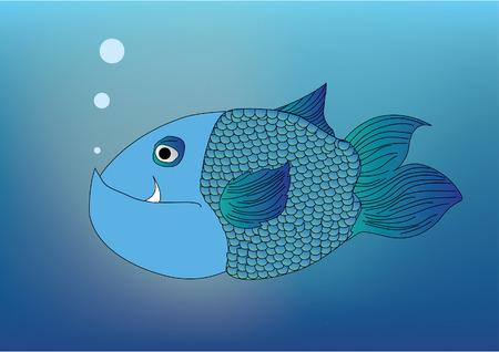 swiming:  Blue Fish swiming