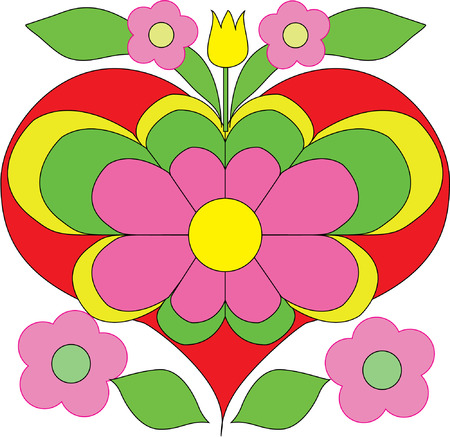 flower heart illustration  Stock Vector - 8206348