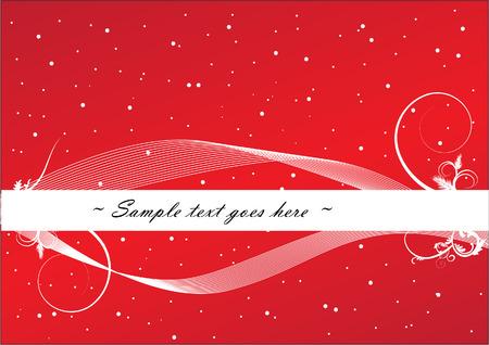 vector christmas card Stock Vector - 8286273
