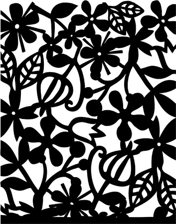 abstract flower black background Stock Vector - 8286269