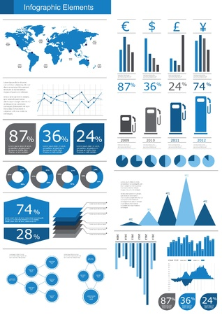 statistics: Detail infographic vector illustration. World Map and Information Graphics