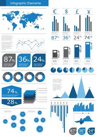 graphics: Detalle de ilustraci�n vectorial infograf�a. Mapa del Mundo y los gr�ficos de la Informaci�n