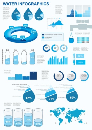 Water infographics.  Information Graphics. Vector illustration Vector