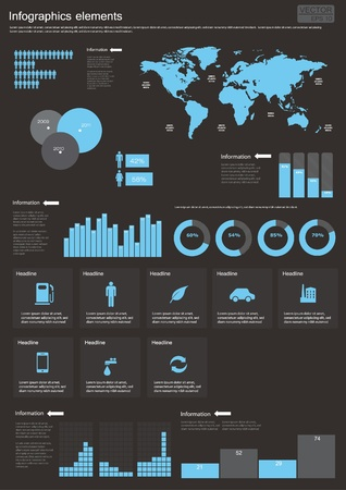 Vector Set elements of infographics  World Map and Information Graphics Vector