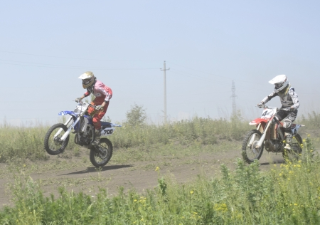 motorsprot: racing on motorcycle on open championship of the city Elica