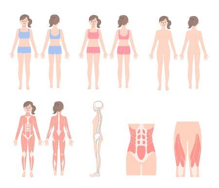 Woman's Body Set