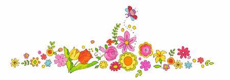 Colorful Spring Flowers 写真素材