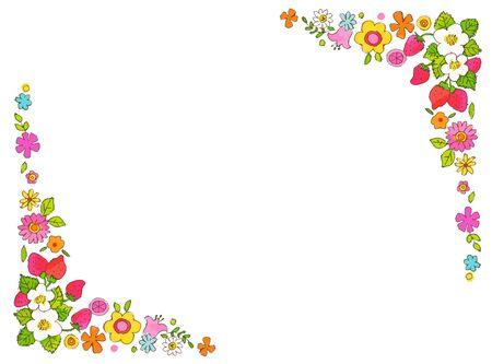 Spring Flower Frame Banque d'images
