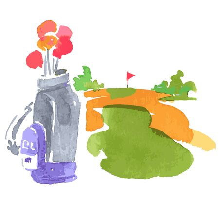 Golf courses and golf bags