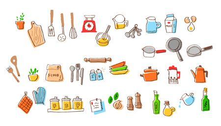 Set of various kitchen goods 写真素材