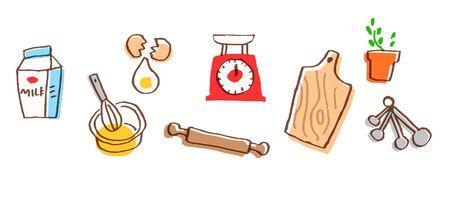 Set of various kitchen goods Stock Photo